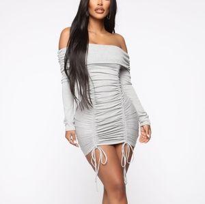 Grey fashion nova dress